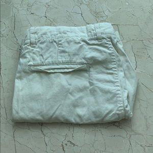 H&M L.O.G.G Men's Flat Front Cream White Shorts